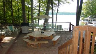 Mid Deck with Gas Grill, Pick Nic Table and lots of furniture