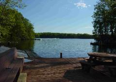View of Lake Anna from our dock at Childs Cove