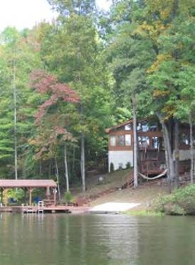 View of house from main lake in Childs Cove